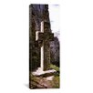 iCanvasArt Panoramic Stone Cross at a Castle, Bran Castle, Brasov, Transylvania, Mures County, Romania Photographic Print on Canvas