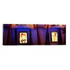 iCanvasArt Panoramic Strip Club Lit up at Night, Las Vegas, Nevada Photographic Print on Canvas