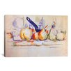 <strong>iCanvasArt</strong> 'Still Life with Saucepan, 1902' by Paul Cezanne Painting Print on Canvas