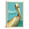 iCanvasArt Anderson Design Group The Pelican Seaside Pub Vintage Advertisment on Canvas