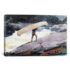 iCanvasArt 'The Portage 1897' by Winslow Homer Painting Print on Canvas