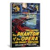 iCanvasArt The Phantom of The Opera Advertising Vintage Poster Canvas Print Wall Art