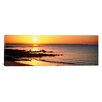 iCanvasArt Panoramic Sunrise over the Beach, Beg Meil, Finistere, Brittany, France Photographic Print on Canvas