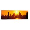 iCanvas Panoramic Statues along a Bridge, Charles Bridge, Prague, Czech Republic Photographic Print on Canvas