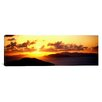 <strong>iCanvasArt</strong> Panoramic Sunset Virgin Gorda British Virgin Islands Photographic Print on Canvas