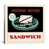 iCanvas Sandwich Advertising Vintage Poster