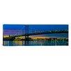iCanvasArt Panoramic Suspension Bridge Across a River, Ben Franklin Bridge, River Delaware, Philadelphia, Pennsylvania Photographic Print on Canvas
