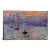 iCanvasArt 'Sunrise Impression' by Claude Monet Painting Print on Canvas