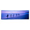 iCanvasArt Panoramic Surfers on Beach Costa Rica Photographic Print on Canvas