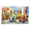 iCanvasArt Kids Children Storytime Cartoon Canvas Wall Art