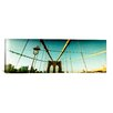 <strong>iCanvasArt</strong> Panoramic Brooklyn Bridge, Manhattan, New York City Photographic Print on Canvas