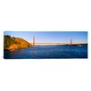 <strong>iCanvasArt</strong> Panoramic Suspension Bridge Across the Sea, Golden Gate Bridge, San Francisco, California Photographic Print on Canvas