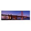 <strong>iCanvasArt</strong> Suspension Bridge at Dusk, Golden Gate Bridge, San Francisco, Marin County, California Photographic Print on Canvas