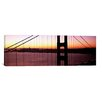iCanvas Panoramic Suspension Bridge at Sunrise, Golden Gate Bridge, San Francisco Bay, San Francisco, California Photographic Print on Canvas