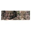 iCanvas Panoramic Stone Faces Bayon Angkor Siem Reap Cambodia Photographic Print on Canvas