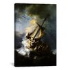 iCanvasArt 'The Storm on The Sea of Galilee' by Rembrandt Painting Print on Canvas