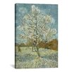 iCanvasArt 'The Pink Peach Tree l, 1888' by Vincent Van Gogh Painting Print on Canvas