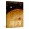 iCanvasArt 'The Planet Jupiter' by Michael Thompsett Graphic Art on Canvas