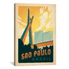 iCanvas 'Sao Paulo, Brazil' by Anderson Design Group Vintage Advertisement on Canvas