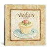 "iCanvasArt ""Sweet Cupcakes (Vanilla)"" Canvas Wall Art by Lisa Audit"