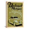 <strong>iCanvasArt</strong> 'The Motor City - Detroit Michigan' by Anderson Design Group Vintage Advertisement on Canvas