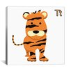 iCanvasArt Kids Art Tiger Graphic Canvas Wall Art