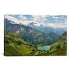 iCanvas Scenic Swiss Alps Spring Mountain Landscape Photographic Print on Canvas