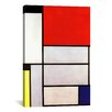 iCanvas 'Tableau l, 1921' by Piet Mondrian Canvas Wall Art