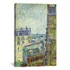 iCanvas 'View from Theo's Apartment' by Vincent Van Gogh Painting Print on Canvas