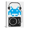 iCanvas Space Invaders DJ Hero Graphic Art on Canvas