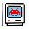 iCanvas Space Invader - Computer Takeover Pixel Art Canvas Wall Art