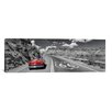 iCanvas Panoramic Vintage Car Moving on the Road, Route 66, Arizona Photographic Print on Canvas