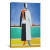iCanvas 'Woman with a Rake' by Kazimir Malevich Painting Print on Canvas