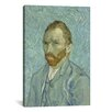 <strong>iCanvasArt</strong> 'Self Portrait, 1889' by Vincent Van Gogh Painting Print on Canvas