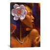 "iCanvas ""Woman With Pearl Neclace"" Canvas Wall Art by Keith Mallett"