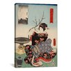 iCanvasArt Woman with Tree Branch Japanese Woodblock Painting Print on Canvas