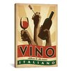 <strong>iCanvasArt</strong> 'Vino Italiano' by Anderson Design Group Vintage Advertisment on Canvas
