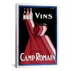 <strong>iCanvasArt</strong> Vins Camp Romain Vintage Advertisement on Canvas