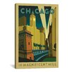 iCanvasArt 'The Magnificent Mile - Chicago, Illinois ll' by Anderson Design Group Vintage Advertisment on Canvas