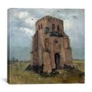 "<strong>iCanvasArt</strong> ""The Old Church Tower at Nuenen (the Peasants' Churchyard)"" Canvas Wall Art by Vincent Van Gogh"