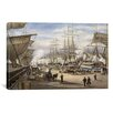 """iCanvasArt """"The Green St. Wharf"""" Canvas Wall Art by Stanton Manolakas"""