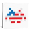 iCanvas Space Invader - American Hero Invader Canvas Wall Art