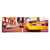 iCanvasArt Panoramic Traffic on the Road, Times Square, Manhattan, New York City, New York State Photographic Print on Canvas