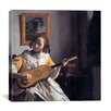 """iCanvasArt """"The Guitar Player"""" Canvas Wall Art by Johannes Vermeer"""