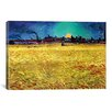 iCanvasArt 'Sommerabend' by Vincent Van Gogh Painting Print on Canvas