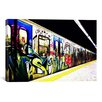 iCanvas Train Graffiti Canvas Wall Art