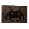 iCanvas Space Invaders Woody Cube Invader Art Graphic Art on Canvas