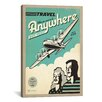 iCanvasArt 'Travel Anywhere' by Anderson Design Group Vintage Advertisement on Canvas