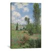 <strong>iCanvasArt</strong> 'View of Vetheiul 1880' by Claude Monet Painting Print on Canvas