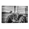 iCanvas 'Tractor and Tobacco Field Baldwin Wallace' by Bob Rouse Photographic Print on Canvas